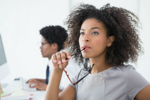 college woman considering careers and emotional intelligence